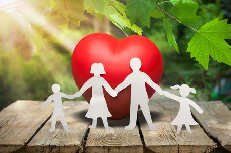 Family Cut-out  Medical Insurance Concept Foto de archivo