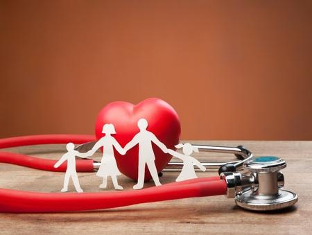 Family Cut-out  Medical Insurance Concept Standard-Bild