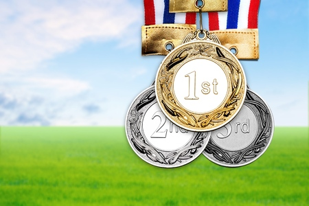 Medal with summer Stock Photo
