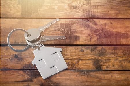House key on the table