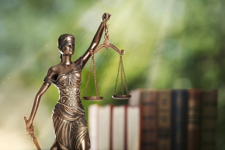 Scales of Justice symbol, legal law concept image
