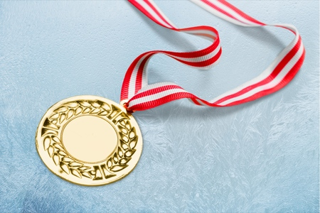Gold, silver bronze medal Stock Photo