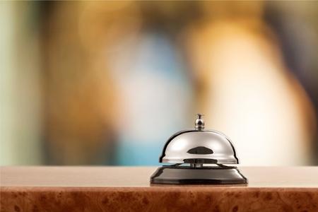 Restaurant bell vintage on bokeh Stock Photo
