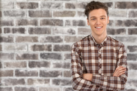 Portrait of a smiling young man Stock Photo