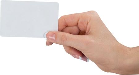 Hand holding an empty business card Reklamní fotografie