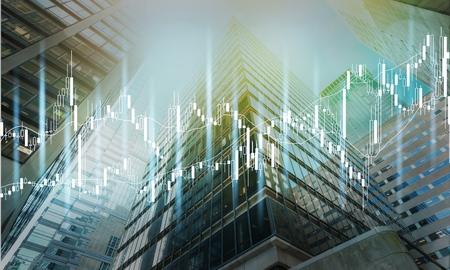 Business modern skyscrapers