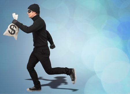 Thief get away Stock Photo