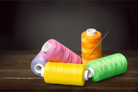 Coils of colour threads Stock Photo