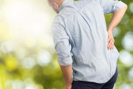 A man suffering from backache