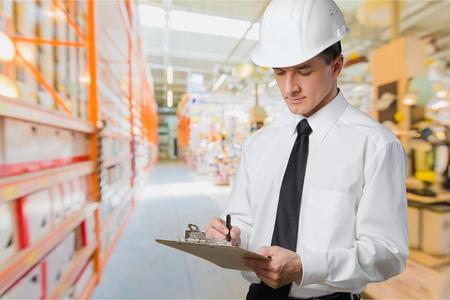 Construction Inspector Safety Glasses Stockfoto