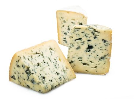 Three Pieces of Mountain Gorgonzola Cheese - Isolated