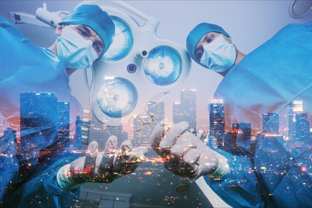Surgeon in OR Stock Photo