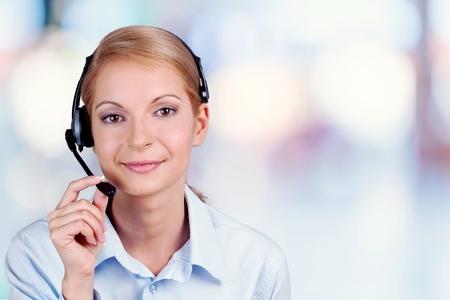 Smiling customer service Banque d'images