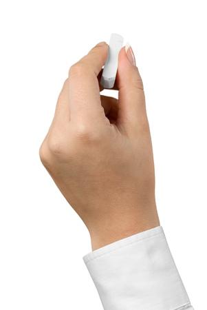 Hand Holding a Chalk Stick