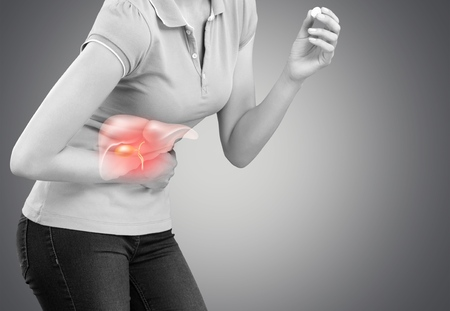 Liver On Womans Body