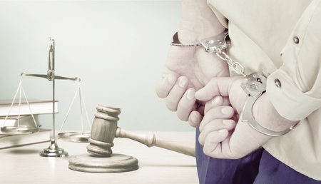 arrested man hands close up Stock Photo