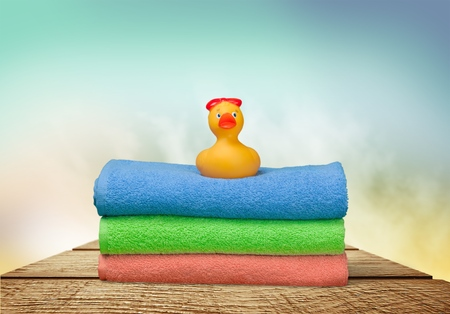 Bath: Towels and Rubber Duck