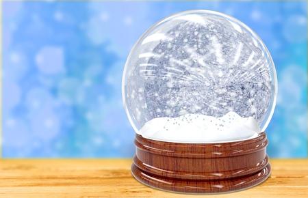 Snow Globe - Christmas Magic Ball Stock Photo