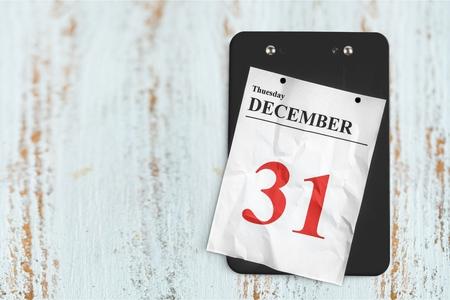 カレンダーで12月31日
