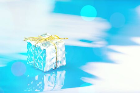 Blue and silver presents Stock Photo
