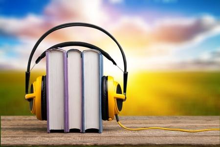 Audio book concept 스톡 콘텐츠
