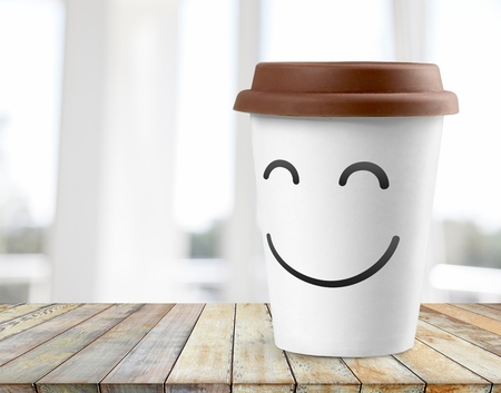 White paper coffee cup Stock Photo