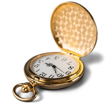 vintage golden pocket watch