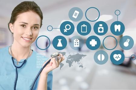 smiling hispanic healthcare professional