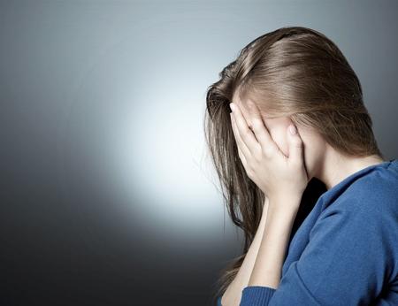 Depressed young woman Foto de archivo