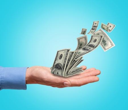 Fallendes Geld 100-Dollar-Scheine (XXXL) Standard-Bild - 98051081