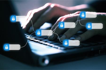 Blockchain technology concept Foto de archivo