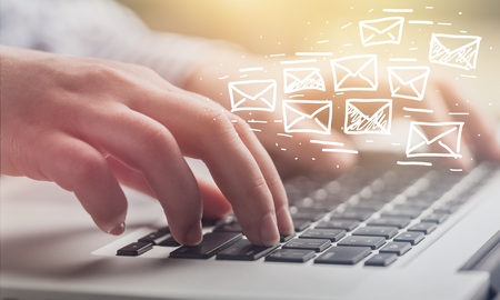 Email marketing and newsletter concept Stock Photo