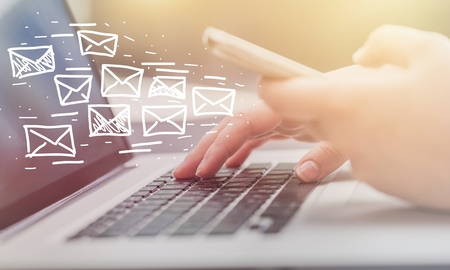 Email marketing and newsletter concept 스톡 콘텐츠