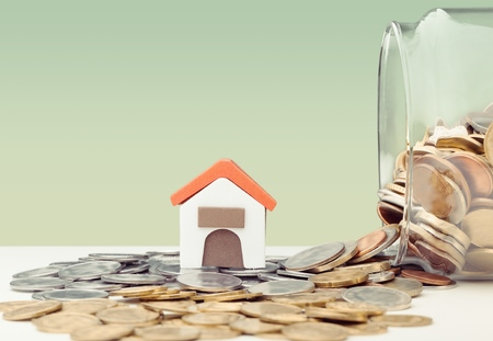 Investment and house mortgage financial concept 스톡 콘텐츠