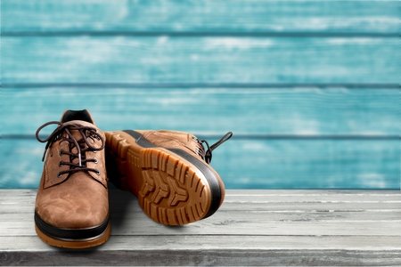 Hiking Boots with Clipping path Stok Fotoğraf