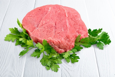 beef steak on white. Isolated
