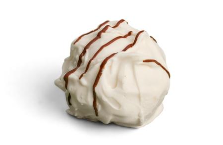 White chocolate candy  praline  truffle