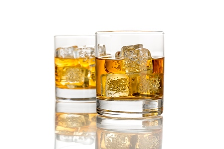Glasses of Whiskey and Ice