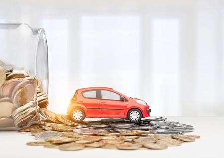 Miniatuur automodel en financiële staat