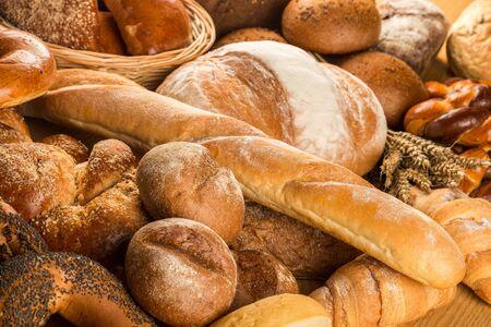 Assortiment de pains et pâtisseries