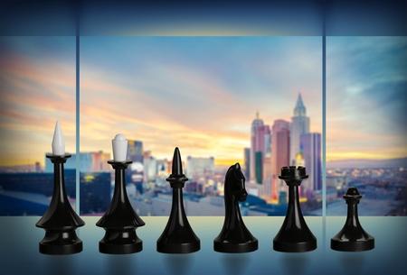 Wooden Chess Pieces Reklamní fotografie