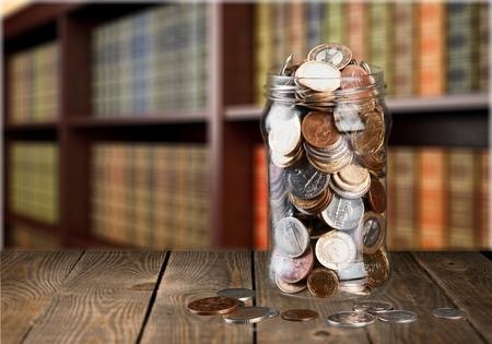 Jar of coins