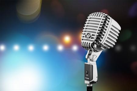 Classic microphone Фото со стока