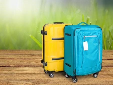 Luggage Pair With BlankTags Near Bottom