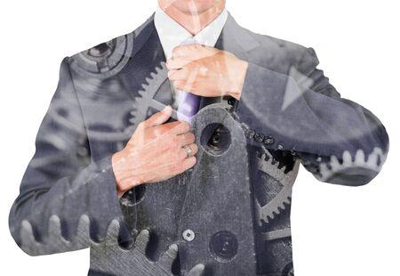 Checking the necktie