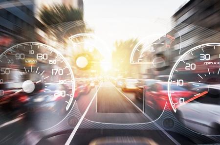 Speedometer and gauges