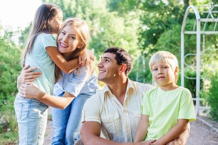 Happy Family 写真素材