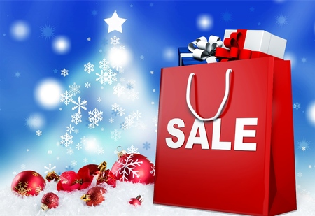 Sale now on shopping bag
