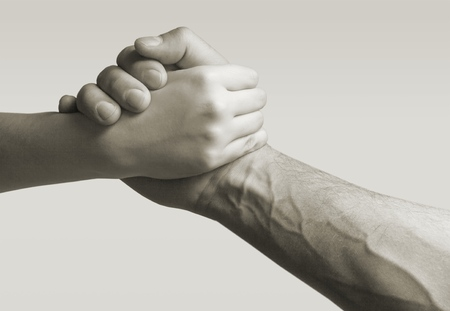 Giving a helping hand Foto de archivo