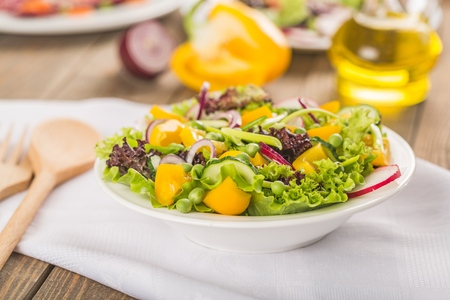 Fresh spring salad with vegetable
